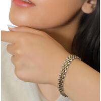 دستبند استیل طرح رولکس کد : 130021
